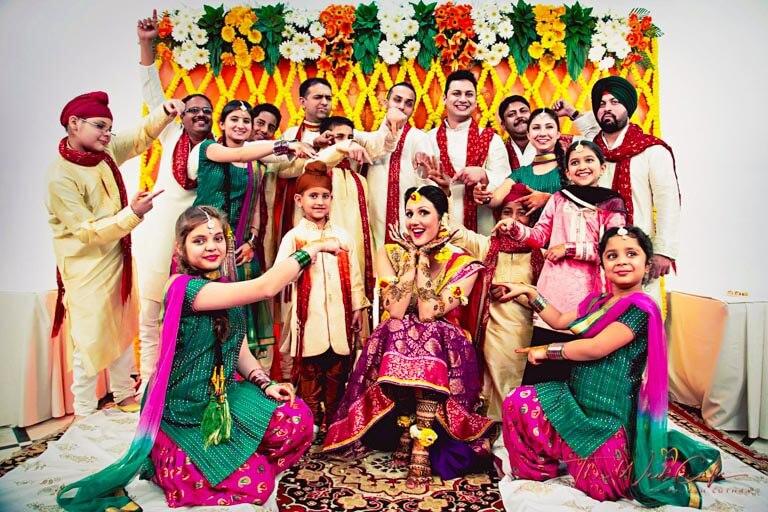 family wedding photoshoot