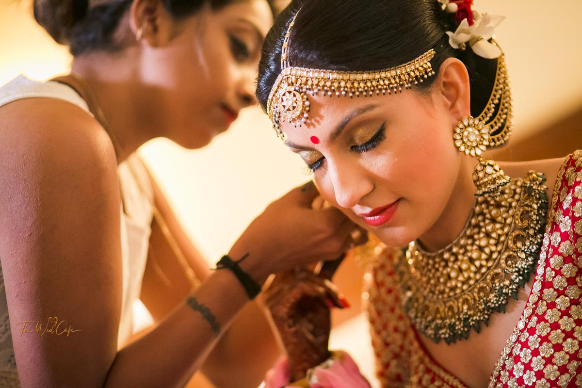 bride makeup wedding shoot