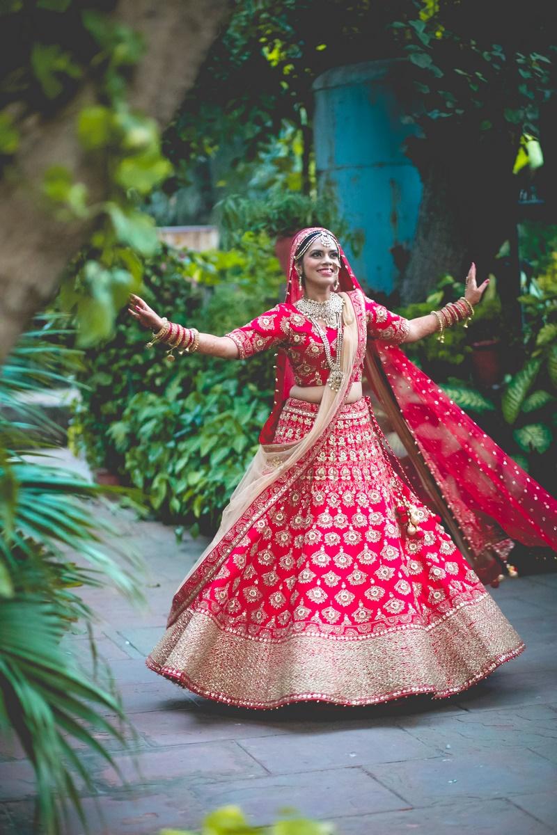 bridal lehenga photoshoot