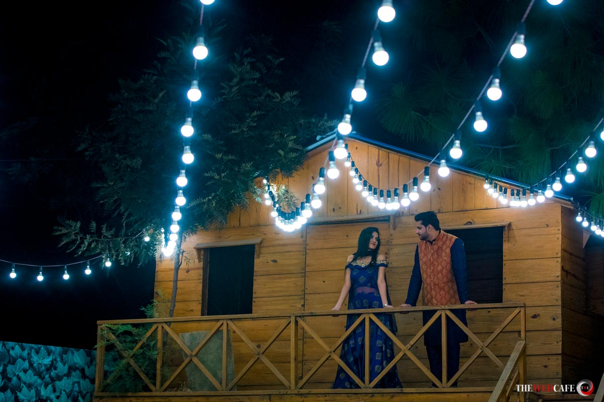 pre-wedding shoot under the stars